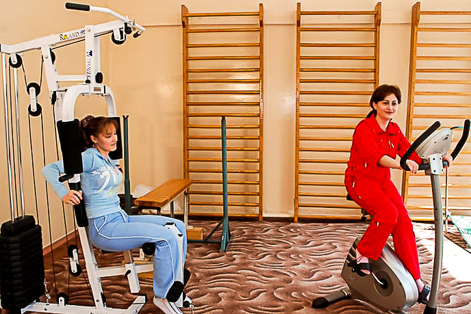 Фотография тренажерного зала санатория Целебный Ключ